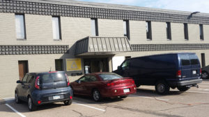 a photo of the Bloomington meeting space (outdoors)