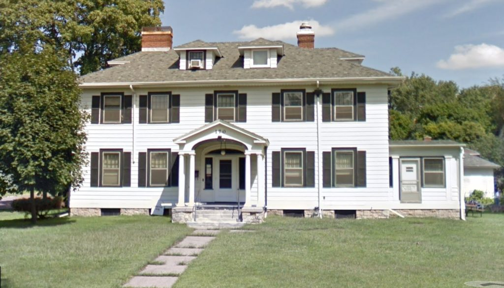 A white house at 170 Maria Ave.